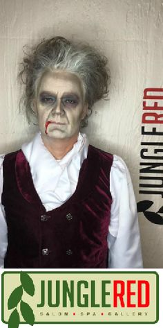 Check out this Halloween makeup look Suzanne did! It turned out great!