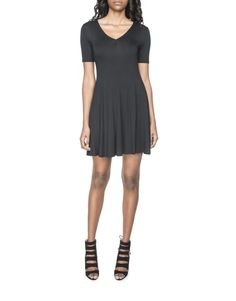 Food, Home, Clothing & General Merchandise available online! Skater Dress, V Neck, Clothing, Shoes, Black, Dresses, Women, Fashion, Outfits