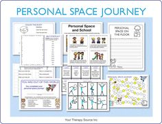 Personal Space Journey Packet - includes body awareness exercises, board game, handwriting activities, personal space social story and more!  On sale until 2/28/15
