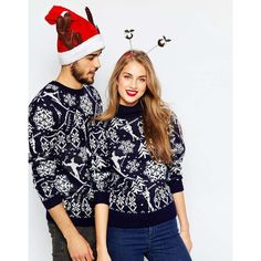 ASOS Holidays Sweater In Vintage Ski Motif with High Neck (€59) ❤ liked on Polyvore featuring tops, sweaters, navy, vintage sweater, high neck sweater, blue sweater, navy sweater и high neck top