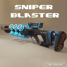 Sniper Blaster, Stepan Dolgopolov on ArtStation at https://www.artstation.com/artwork/2QyQK