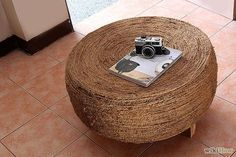 Got an old tire? Turn it into a nature-inspired coffee table!