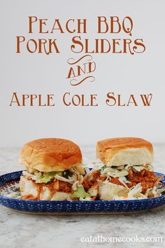 We loved this easy version of slow cooker barbecue. The apple cole slaw made it fantastic!