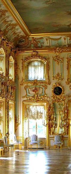 The Summer Palace of the Romanov, Saint Petersburg, Russia                                                                                                                                                                                 More