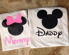 Mommy and Daddy Mickey Mouse Minnie Mouse by ElegantSouthernGifts