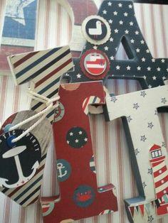Letras decoradas marinero
