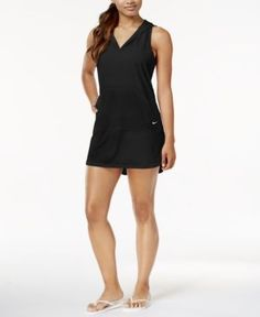 Nike Hooded Dress Cover-Up - Black XL