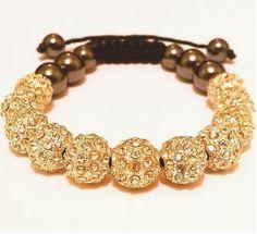 Shamballa Magnetic Hemae Macrame Swarovski Crystal Bracelet Bead Bracelets Trendy