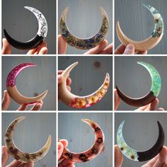 Epoxy resin and wood hair accessories for women long hair. Diy Resin Art, Diy Resin Crafts, Diy Arts And Crafts, French Twist Updo, Shops, Hair Sticks, Hair Accessories For Women, Hair Jewelry, Craft Fairs