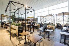 Table and chairs. Dehesa Santa Maria restaurant by Dear Design, Barcelona – Spain Cafe Shop, Cafe Bar, Cafe Restaurant, Restaurant Design, Design Blog, Cafe Design, Store Design, Commercial Design, Commercial Interiors