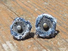 Earring  Post  Recycled Hudson Brand Denim  by daringmisslassiter, $5.00