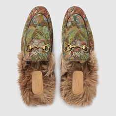 Gucci Princetown floral brocade slipper Detail 3