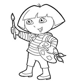 Dora Coloring Page Print Your The Explorer Pages Free Color