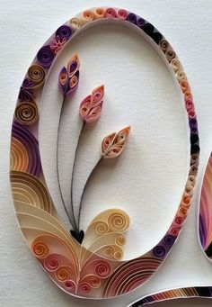 Quilling Custom Nameplate Wall Hanging by HalcyonCreativeGifts