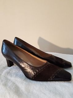 3e170c3bd2c8 NEW Renee by Ara Brown Leather & Suede Pumps made in Germany