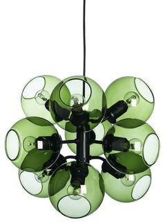 Tage by Pholc - Green glass - also in white and brass Pholc - in Holland at Nordermöbler Scandinavian furniture www.nordermobler.nl