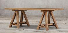 $945 6' REPRODUCTION ...Reclaimed Russian Oak Trinity Rectangular Table Natural | Restoration Hardware