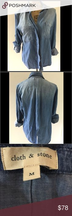 Anthropologie's Cloth & Stone Denim Shirt Anthropologie's Cloth and Stone Denim Button Down Shirt.  Brand new without tags.  Never worn.  Great style with a comfortable feel. Anthropologie Tops Button Down Shirts