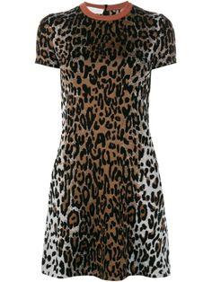 Stella McCartney cheetah print jacquard dress
