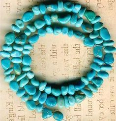 "Castle Dome Turquoise Beads Southwest Arizona ""Pinto Valley"" Genuine 16"" Strd 