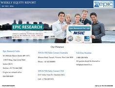 Epic research weekly equity report 26 dec 2016