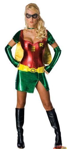 Robin+Superhero+Adult+Costume+Cosplay+Ladies+Sexy+Women+Halloween+Costume