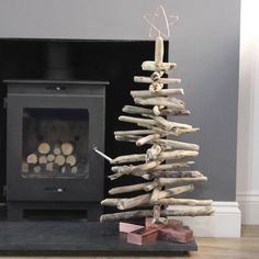 Copper And Driftwood Christmas Tree