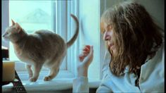 """From the documentary """"Patti Smith: Dream of Life"""", released - Patti Smith sings to her cat I Love Cats, Cool Cats, Maurice Careme, Gatos Cat, Patti Smith, People Of Interest, Buy A Cat, Love Book, Cat Art"""