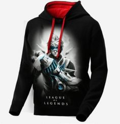Ezreal League of Legends black hoodie for men long sleeve LOL EZ sweatshirt