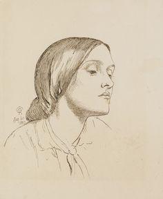 Dante Gabriel Rossetti (1828-1882), Portrait of Maria Hungerford Pollen - 1857