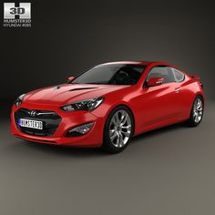 Hyundai Genesis coupe 2014 3d model from humster3d.com. Price: $75