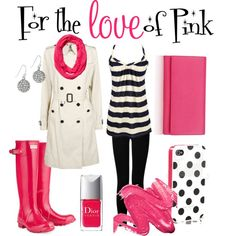 "@Heather  ""For the Love of Pink"" by thelifeoftheparty on Polyvore"