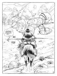 "bl00dbl00dbl00d:  from ""Exterminator 17,"" line drawing by Enki Bilal"