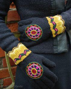 the gloves were knitted by Lembe, embroidered by Kristi Jõeste.  http://kristijoeste.blogspot.com/2013/10/kuldne-sugisgolden-fall.html