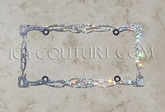 ICY Couture TWILIGHT Swarovski Crystal Bling License Plate Frame. Whats your color?