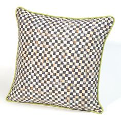 Courtly Check Square Pillow at Mackensie-Childs