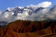 Scenery of Qilian Mountains---Photo taken on July 2013 shows the scenery around the Qilian Mountains in Qilian County, northwest China's Qinghai Province. The scenic spot attracted many tourists with its snow mountains and blossoming flowers. Mountain Photos, Snow Mountain, Mountain Range, China Image, China Travel, Beijing, Mount Everest, Scenery, Mountains