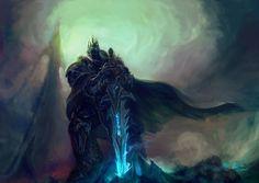 Background Hd Wallpaper, Wallpaper Pc, Wallpaper Backgrounds, Warcraft Art, World Of Warcraft, Garrosh Hellscream, Arthas Menethil, Lich King, Death Knight