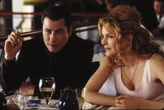 John Travolta and Rene Russo in Get Shorty (1995)