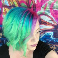 Neon Hair #unicornha