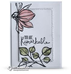 """BLOG HOP & GIVEAWAY: Remarkable Mother's Day """"Double Time"""" Technique card and video 