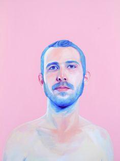 """jenmann:    """"blue beard"""" 30""""x40"""" - oil on canvas  Jen Mann"""