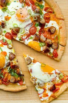 This quick and easy 35-minute breakfast pizza recipe incorporates pizza crust, sausage, cheddar cheese, tomatoes, scallions, eggs and hot sauce to create the ultimate breakfast recipe. Whether you're eating this sausage recipe for a quick and easy weekday breakfast or for a special occasion or holiday breakfast, it's a great choice for an egg recipe.#breakfastrecipes #brunchrecipes #breakfastpizza #pizzarecipes