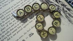Typewriter Key Bracelet.
