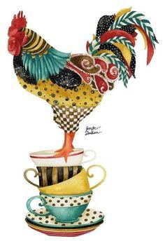 Rooster illustration art by Jennifer Lambein via…: