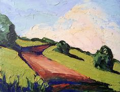 California Impressionist Artists | ... Painting Impressionist California HILLSIDE PATH Lynne French Art