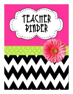 All in One Teacher Binder (Pink/Lime/Black) 4