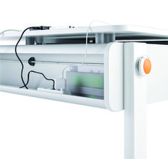 a cable duck for wire management to elimitate cable clutter with the moll Champion ergonomic study desk
