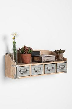 vintage card catelog shelf: def want this for the apartment!