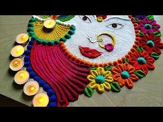 Durga Puja Navratri festivals rangoli and Diwali Dussehra rangoli